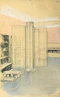 Design for interior of a salon for Helena Rubenstein, Grafton Street, London, 1926