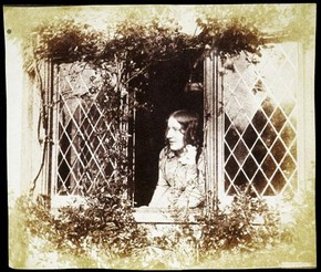 'Agnes Chamberlain at the Window, Bredicot Court', photograph, Benjamin Brecknell Turner, about 1854. Museum no. E.6-2009