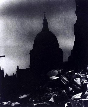 Bill Brandt, 'St Paul's Cathedral in Moonlight', photograph, 20th century. Museum no. PH 69-1978