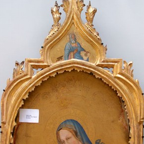 Frame after conservation and re-gilding, attached to panel with new support
