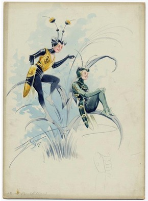 Costume design for Insects, Attilio Comelli, Theatre Royal, Drury Lane, England, 1907. Museum no. 2006AH6350