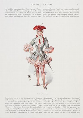 Costume for a Page, Based on a carnation, Designed by Wilhelm, Reproduced in The Magazine for Ar, Date unknown