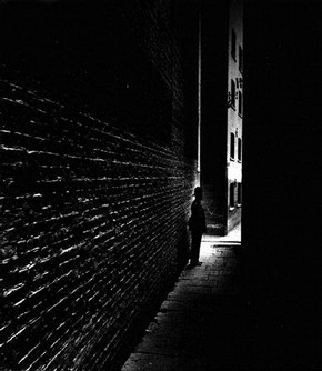 Policeman in a Dockland Alley, Bermondsey, Bill Brandt, 1938  Bill Brandt Archive Ltd.