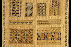 Sampler, Unknown, 1884. Museum no. 194-1885