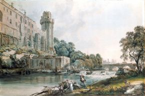 Ceasar's Tower and part of Warwick Castle, Paul Sandby, 1775. Museum no. 814-1877. © Victoria and Albert Museum, London.