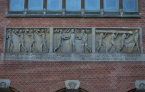 Detail of Amsterdam's Beurs van Berlage (Stock Exchange building). © Melissa Hamnett, 2013
