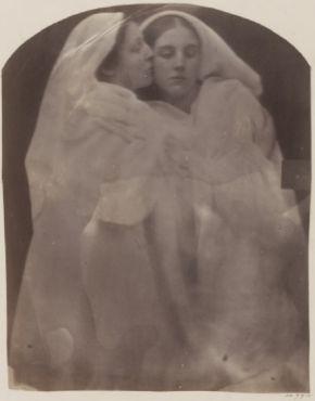 Iolande and Floss, Julia Margaret Cameron, c. 1864, albumen print.  Museum no. 44774 @ Victoria and Albert Museum, London