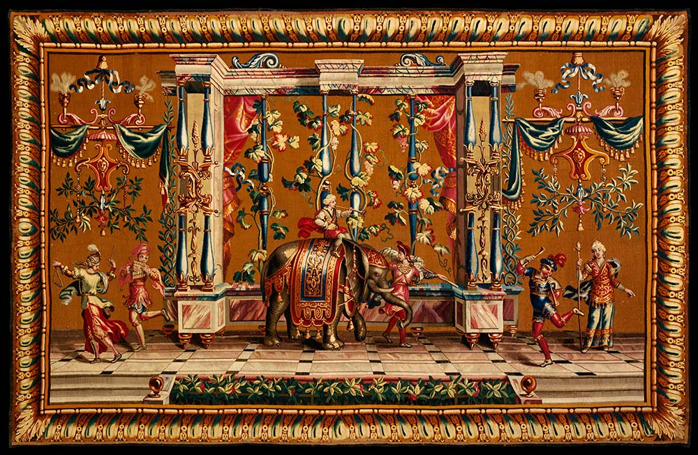 Tapestry, woven at the Beauvais Tapestry  Manufactory, designed by Jean-Baptiste Monnoyer, 1700-20, France  (Beauvais), wool and silk. Museum no. T.54-1955, © Victoria and Albert  Museum, London