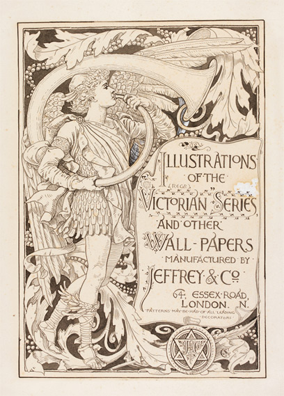 Walter Crane cover design for 'Illustrations of the Victorian Series and Other Wall-Papers'