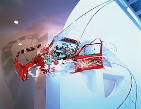 Figure 1. Sarah Sze, 'Things Fall Apart', 2001, mixed media installation with vehicle. Collection SFMOMA, Accessions Committee Fund. ©Sarah Sze (Photo reproduced with permission from Frank Oudeman)