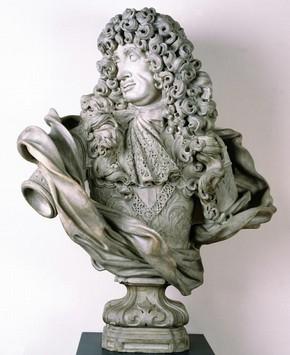 Charles II portrait bust, Honor Pelle, 1684. Museum no. 239-1881