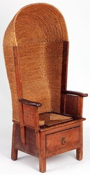 'Hooded Chair', designed and probably made by David Kirkness (1855–1936), 1890s. Museum no. W.1-2012