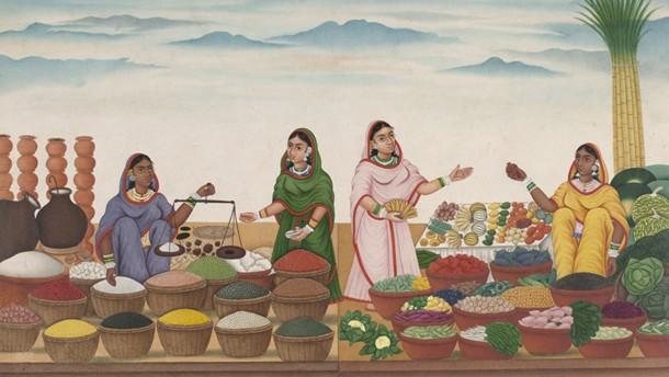 Market scene, Patna