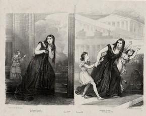 Giuditta Pasta as Medea in Mayr's opera Medea, 1827