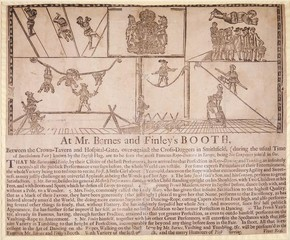 Playbill for Barnes and Finley's booth, Smithfield Fair, London, 1701. Museum no. TM HRB Q.2, © Victoria and Albert Museum, London