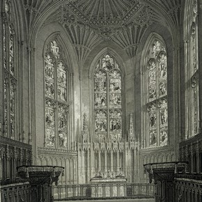 The chapel at Ashridge Park, from 'The History of the College of Bonhommes, at Ashridge', by Henry John Todd, London, 1823. Museum no. 106.E.61
