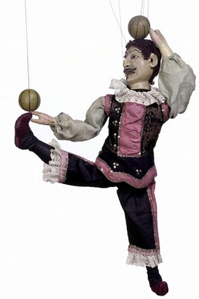 Juggler marionette, Tiller-Clowes Troupe, 1870s-1890s, Museum no. S.291-1999