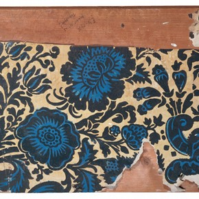 Portion of flock wallpaper from Clandon Park, Surrey, about 1735. Museum no. E.31-1971