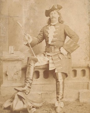 Frank Celli as Captain MacHeath (Gay's 'The Beggar's Opera'), by Oliver Sarony, late 19th century. Museum no. S.148:356-2007