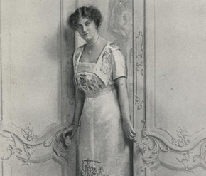 Portrait photograph of Florence Caulfield by Lafayette, frontispiece to 'The Illustrated Needlwork Book', London, England, 1914. Museum no. NAL 43.B.154