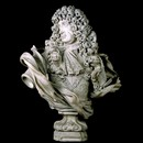 Marble bust of Charles II (1630–85) by Honoré Pelle, 1684. Museum No. 239-1881