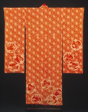 Silk kimono for a young woman, 1790-1830. Museum no. FE.32-1982