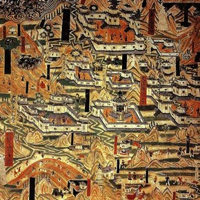 Wall painting of Wutaishan, Dunhuang