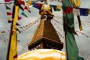 Swayambhunath stupa, Kathmandu, Nepal. Photograph by Jennifer Tynan, 2001