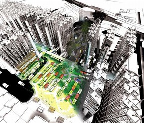 aberrant architecture, 'The Single Life', render, research project, 2007