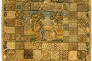 Sampler, Unknown, 1751. Museum no. T.59-1914