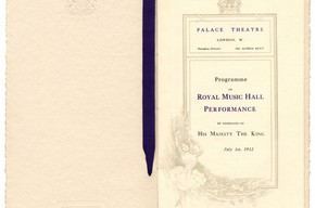Souvenir programme for the Royal Command Performance, 1 July, 1912. © Victoria and Albert Museum, London