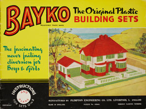 Instruction leaflet, Bayko Building Sets, Plimpton Engineering Co Ltd, 1930s copyright Victoria and Albert Museum