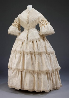 Figure 2 - Wedding dress, 1857, England, worn by Margaret Lang. Museum no. T.10A-1970