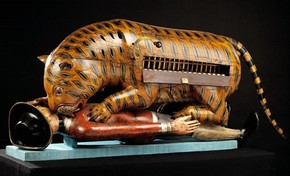 Tippoo's Tiger, mechanical organ, unknown maker, Mysore, India, about 1790. Museum no. 2545(IS)