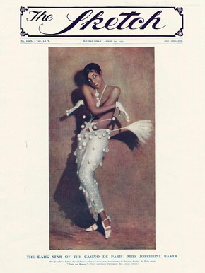 Front cover of The Sketch showing Josephine Baker, 1931.