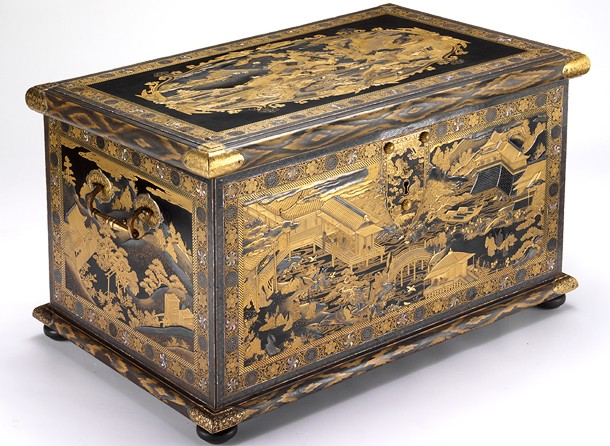 <p>The Mazarin Chest, Japan, about 1640. Museum no. 412-1882</p> <p>マザラン・チェスト、日本製、1640年頃、館蔵番号 412-1882</p>