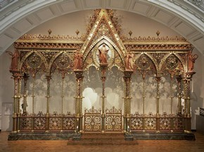 'The Hereford Screen', metalwork choir screen designed by Sir George Gilbert Scott, made by Francis Skidmore, 1862