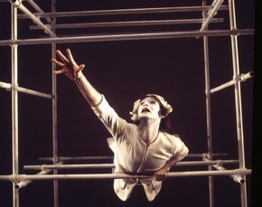 Christopher Bruce in Pierrot Lunaire, Ballet Rambert, photograph by Anthony Crickmay, about 1967