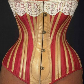 Corset, (front), 1883. Museum no T.84-1980