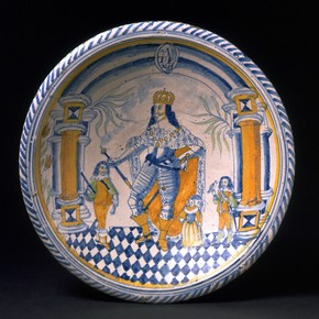 Charger, Pickleherring Pottery, London, England, 1653. Museum no. C.71-1998