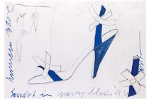 Manolo Blahnik (b.1942), design for a shoe, Britain, 1980. Museum no. E.1331-1979