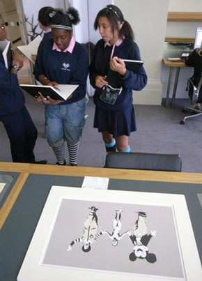 Students in the V&A Prints and Drawings Study Room