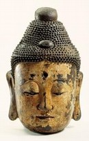 Head of Buddha, Chinese (Tang Dynasty) 700-900 AD. Museum no. M.3-1936.