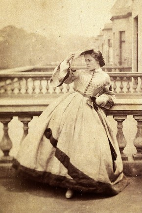 Isabella Grace on a Balcony, Clementina, Lady Hawarden. Museum no. PH.457:163-1968.  Victoria & Albert Museum, London
