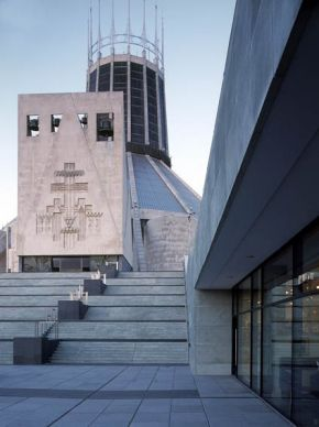 The Metropolitan Cathedral of Christ the King, Liverpool won the ACE/RIBA award for Religious Architecture for exterior works by Falconer Chester Architects (with Landscape Projects)