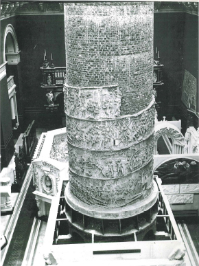 Cast of Trajan's column in the Cast Courts in 1873