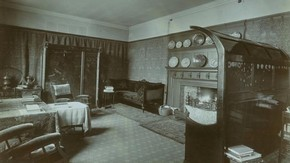 The drawing room of Kelmscott House, photograph, Emery Walker, 1896, Museum no. 2-1973