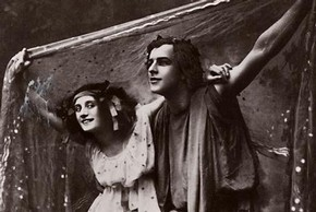 Anna Pavlova and Mikhail Mordkin, sepia-tone photograph, New York, United States, about 1910