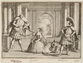 The Castrati, engraved print, 1726