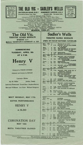 Old Vic Green Flyer, London, 1936